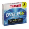 DVD-RW Discs, 4.7 GB, 2x, with Jewel Cases, Gold, Three/Pack