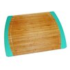 Lipper International Bamboo and Silicone Non-Slip Cutting Board