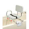 <strong>Eagle Health</strong> Tub Mount X-Short Transfer Bench with Padded Swivel Seat and Back