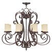 <strong>Livex Lighting</strong> Millburn Manor 8 Light Candle Chandelier