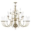 <strong>Livex Lighting</strong> Williamsburg Candle Chandelier