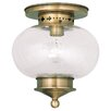 <strong>Livex Lighting</strong> Harbor 1 Light Semi Flush Mount
