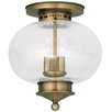 Livex Lighting Harbor 3 Light Semi Flush Mount