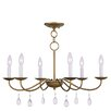 Livex Lighting Mercer 6 Light Candle Chandelier