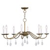<strong>Mercer 8 Light Candle Chandelier</strong> by Livex Lighting