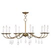 <strong>Livex Lighting</strong> Mercer 10 Light Candle Chandelier