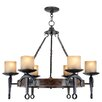 <strong>Livex Lighting</strong> Cape May 6 Light Candle Chandelier