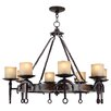 Livex Lighting Cape May 8 Light Candle Chandelier