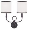 <strong>2 Light Wall Sconce</strong> by Livex Lighting