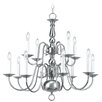 <strong>Williamsburg 12 Light Chandelier</strong> by Livex Lighting