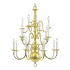 <strong>Livex Lighting</strong> Williamsburg 16 Light Chandelier