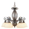 Manchester  Chandelier in Imperial Bronze