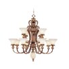 <strong>Savannah Thirteen Light Chandelier in Venetian Patina</strong> by Livex Lighting