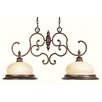 <strong>Renaissance  Kitchen Island Pendant in Moroccan Gold</strong> by Livex Lighting