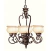 <strong>Renaissance Six Light Chandelier in Moroccan Gold</strong> by Livex Lighting
