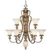 <strong>Livex Lighting</strong> Savannah 10 Light Chandelier