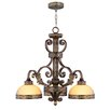<strong>Seville 3 Light Chandelier</strong> by Livex Lighting