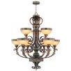 <strong>Livex Lighting</strong> Seville 9 Light Chandelier