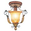 <strong>Livex Lighting</strong> Villa Verona 1 Light Semi Flush Mount