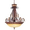 <strong>Villa Verona 4 Light Inverted Pendant</strong> by Livex Lighting