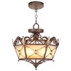 <strong>Livex Lighting</strong> Bristol Manor  Convertible Pendant in Palacial Bronze with Gilded Accents