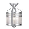 Livex Lighting Westfield 3 Light Convertible Drum Pendant