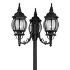 "Livex Lighting Frontenac 3 Light 22"" Outdoor Post Lantern"