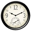 "<strong>Springfield Precision Instruments 14"" Thermometer Wall Clock</strong> by Taylor"