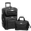 Traveler's Choice Amsterdam 2 Piece Carry-On Luggage Set