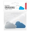 Kikkerland 2 Eraser Clouds (Set of 2)
