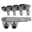SVAT Electronics PRO 8CH 1TB Smart Security DVR with 2 x 600TVL Dome Cameras, 4 x 600TVL Bullet Cameras