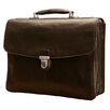 <strong>Green Bella Russo Leather Laptop Briefcase</strong> by Tony Perotti