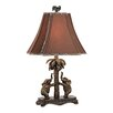 <strong>Dimond Lighting</strong> Elephants on Palm Tree Accent Table Lamp