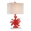 "Dimond Lighting Coral 28"" H Table Lamp with Rentangular Shade"