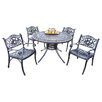 <strong>Oakland Living</strong> Mississippi Hummingbird 5 Piece Dining Set