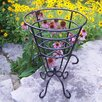 Oakland Living Gold Cup Round Stand Planter