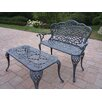 <strong>Oakland Living</strong> Mississippi 2 Piece Bench Seating Group Set