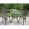 <strong>Oakland Living</strong> American Eagle 3 Piece Bistro Set