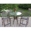 <strong>Oakland Living</strong> Hummingbird Elite 5 Piece Bar Height Dining Set