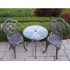 <strong>Oakland Living</strong> Hummingbird 3 Piece Bistro Set