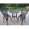 <strong>Oakland Living</strong> Tea Rose 3 Piece Bistro Set