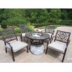 <strong>Oakland Living</strong> Stone Art Bistro Set with Cooler