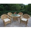 <strong>Oakland Living</strong> Resin Wicker Dining Set with Cushions