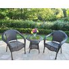 <strong>Oakland Living</strong> Resin Wicker 3 Piece Lounge Seating Group Set
