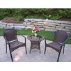 <strong>Oakland Living</strong> Tuscany 3 Piece Lounge Seating Group Set