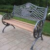 <strong>God Bless America Wood and Aluminum Park Bench</strong> by Oakland Living