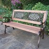 <strong>Mississippi Wood and Cast Iron Park Bench</strong> by Oakland Living
