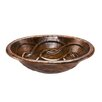 <strong>Premier Copper Products</strong> Oval Braid Self Rimming Bathroom Sink