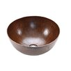 Premier Copper Products Medium Round Vessel Bathroom Sink