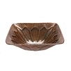 Premier Copper Products Square Feathered Vessel Bathroom Sink